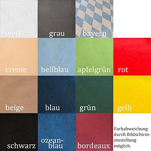 bierzeltgarnitur tischdecke aus stoff hnlichem vlies ko tex 100 farbe breite nach wahl. Black Bedroom Furniture Sets. Home Design Ideas
