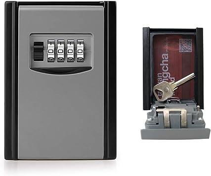 GogoTool Caja fuerte para llaves, Caja de seguridad Combinación de 4 dígitos,10000 combinaciones de diseño de contraseñas para las llaves seguridad.Es adecuada para el hogar, el garaje y la granja,ect: Amazon.es: Bricolaje
