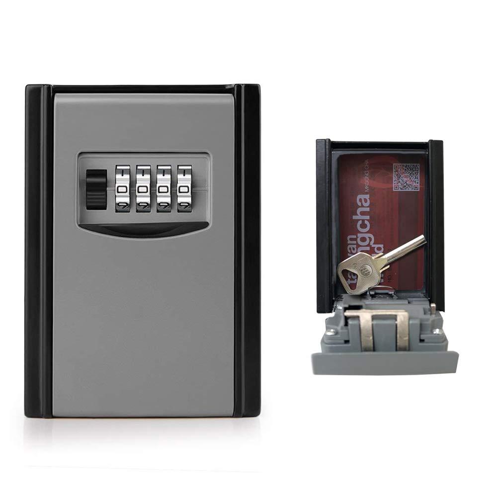 GogoTool Caja fuerte para llaves, Caja de seguridad Combinació n de 4 dí gitos,10000 combinaciones de diseñ o de contraseñ as para las llaves seguridad.Es adecuada para el hogar, el garaje y la granja,ect