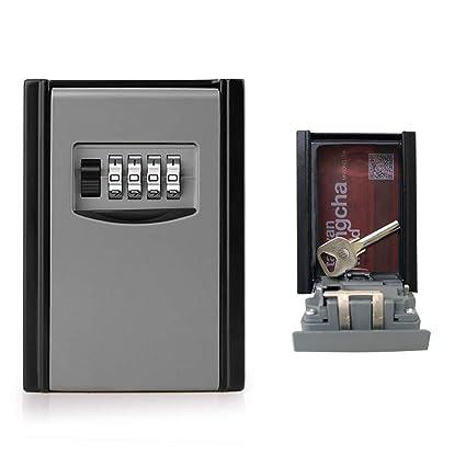 c0bc9e135982 GogoTool Caja fuerte para llaves, Caja de seguridad Combinación de 4  dígitos,10000 combinaciones