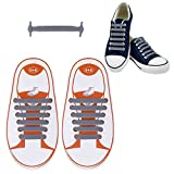Aniwon 12PCS Kid Shoe Laces Waterproof Shoelaces Bright Color No Tie Elastic Shoe Laces for Kid