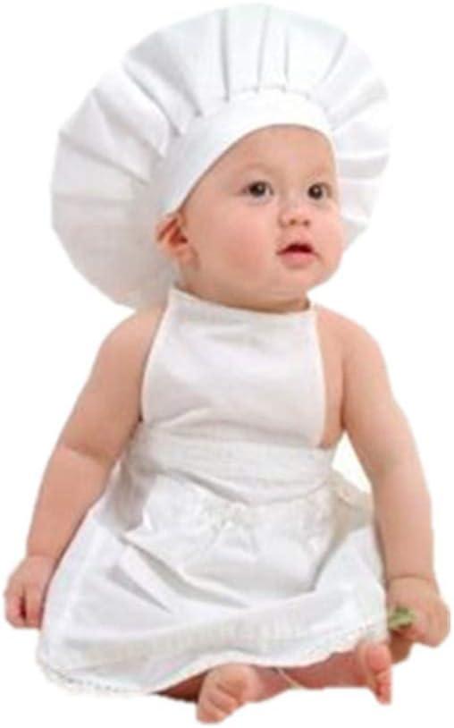 Ben-gi Delantal Blanco Sombrero Traje del Cocinero Ropa de bebé ...