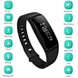 DOESIT Bluetooth Pedometer Bracelet Fitness Tracker Sport Smart Band with Blood Pressure Monitor