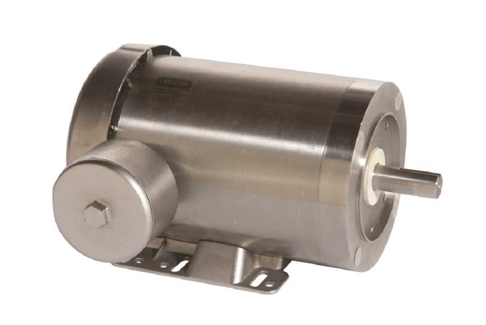 Leeson 121882.00 Extreme Duck Washguard Motor, 3 Phase, 145TC Frame, Rigid Mounting, 2HP, 1800 RPM, 208-230/460V Voltage, 60/50Hz Fequency