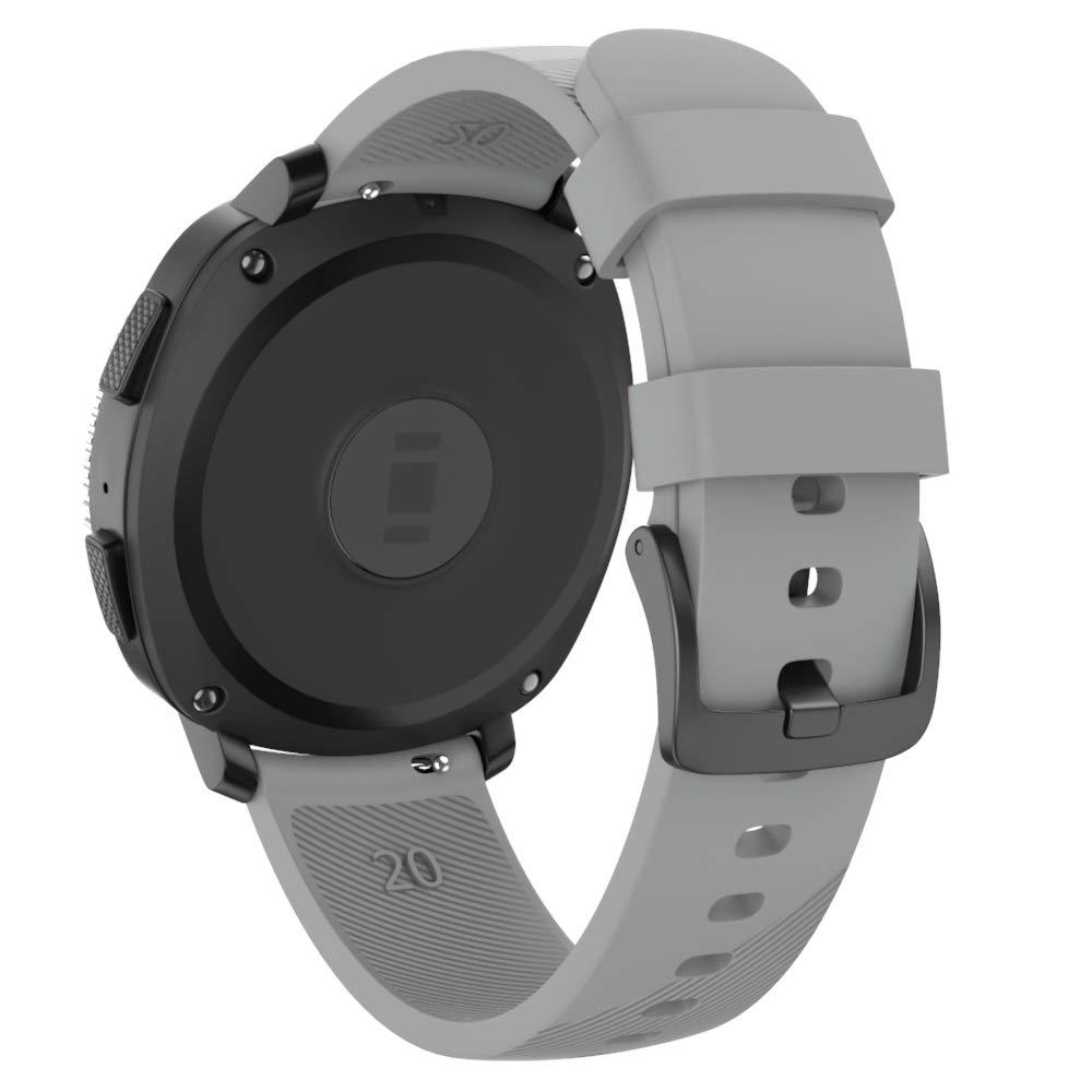 Isabake Correa para Samsung Galaxy Watch Active/Active 2 40&44mm/Galaxy Watch 42mm/Gear Sport/Gear S2 Classic, Banda de Repuesto de Silicona Suave de ...