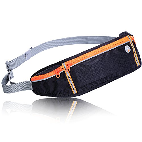 ThirdM Slim Polyester Water Resistant Waist Bag Fanny Pack for Man Women Outdoors Running Climbing Carrying for All Kinds of Phones iPhone Android Windows