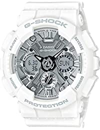 Casio GMAS120MF-7A1 G-Shock S Series White and Grey/Silver 46mm Women's Watch