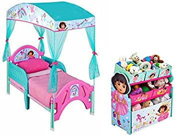 Image Unavailable  sc 1 st  Amazon.ca & Bundle of 2: Nickelodeon Dora the Explorer Canopy Toddler Bed and ...
