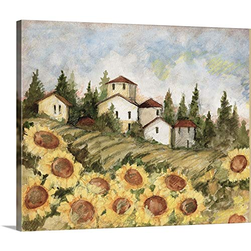 GREATBIGCANVAS Gallery-Wrapped Canvas Entitled Tuscan Sunflower Landscape by Susan Winget 12