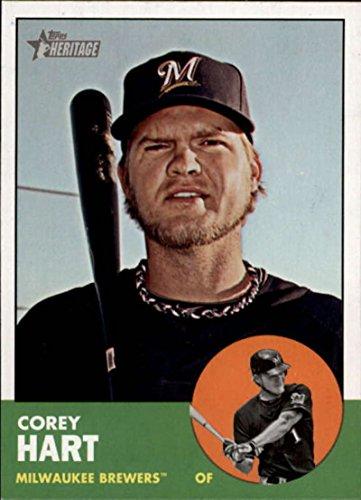 (2012 Topps Heritage #414 Corey Hart Brewers MLB Baseball Card NM-MT)