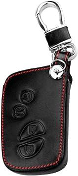 styleinside Estuche para Llaves De Auto, 4 Botones Estuche De Cuero Protector Llave para Llavero Cubierta Soporte para Auto Inteligente Apto para Lexus Llave HYQ14AAB IS LX GX: Amazon.es: Electrónica