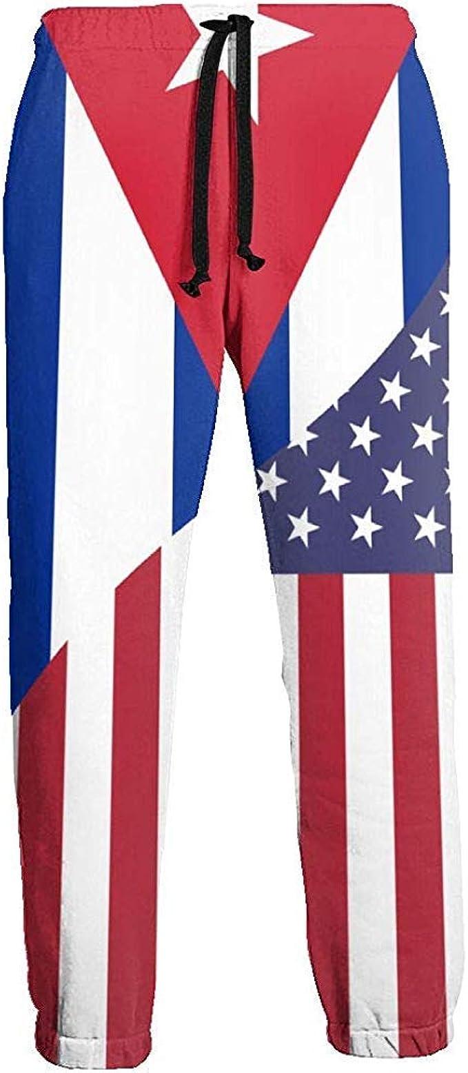 Pantalones de chándal para Hombre Pantalones de chándal con Bandera de la Amistad de Cuba USA Pantalones con Bolsillos Pantalones de Running de Corte Slim con cordón: Amazon.es: Ropa y accesorios