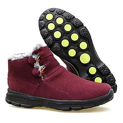 Amazon.com | MUMEOMU Womens Snow Boots Fur Lined Winter