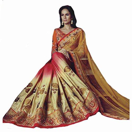 indischen Hochzeit Sari Neue Fashion Frauengewand Designer Arbeit Original  Ethnic Traditionelle Sexy 856