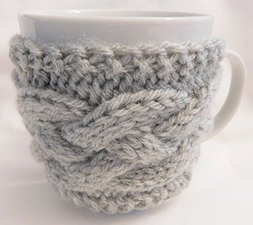 Integrity Designs Handmade Coffee Cup Sleeve Mug Cozy Gray and 3 inch Gift Card with Envelope by Integrity Designs