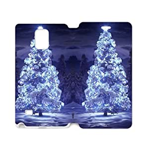 Blue Christmas Tree Sparkling In The Night Sky Samsung Galaxy note 4 Case Cover (Laser Technology)