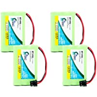 4x Pack - Uniden DCT748-4 Battery - Replacement for Uniden Cordless Phone Battery (800mAh, 3.6V, NI-MH)
