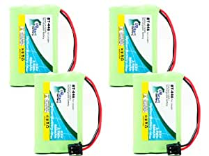 4x Pack - Uniden TRU9480 Battery - Replacement for Uniden Cordless Phone Battery (800mAh, 3.6V, NI-MH)