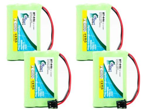 4 Pack - Replacement for Uniden 80AAALH3BMZ Battery - Compatible with Uniden Cordless Phone Battery (800mAh 3.6V NI-MH)