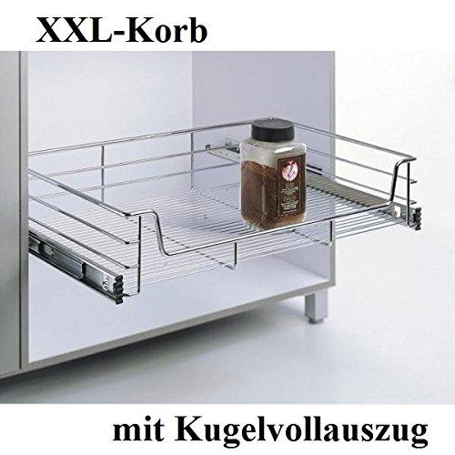 XXL-Korb, KB 40cm,Teleskopschublade, Kü chenschublade, Tiefe 500mm, mit Kugelvollauszug von Könemann GmbH