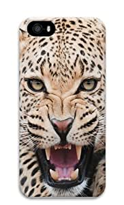 Leopard Growling Polycarbonate Hard 3D Case Cover for iPhone 5 and iPhone 5S