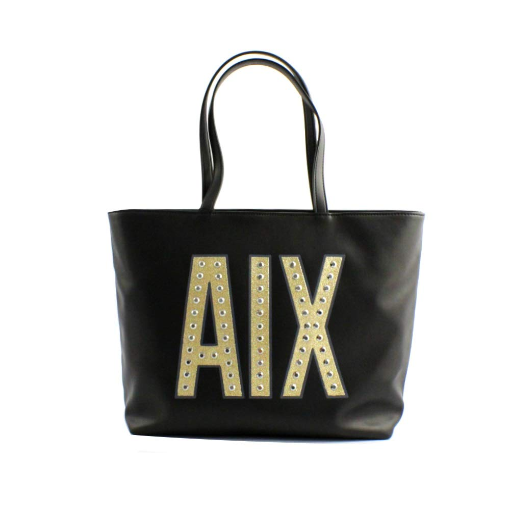 the best many styles factory outlets Armani Exchange Tote, Cabas femme, Noir (Nero), 29.0x12.0x41 ...