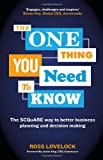 The One Thing You Need to Know, Ross Lovelock, 1118653165