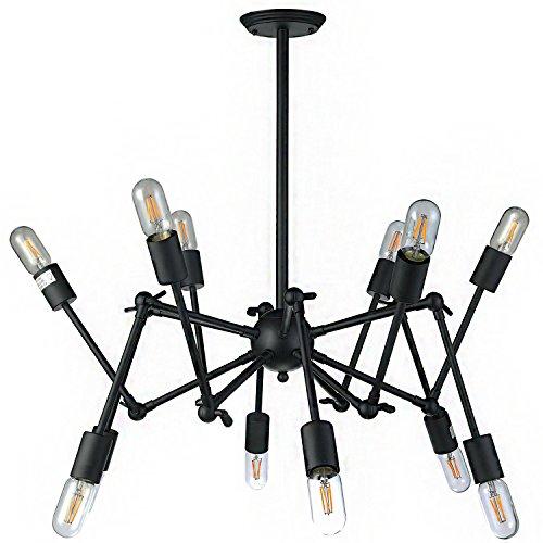 Vonn vmc31300bl 99,1cm LED Lámpara de araña moderna, multi-pivoting-arm Industrial Chandelier Lighting con filamento LED...