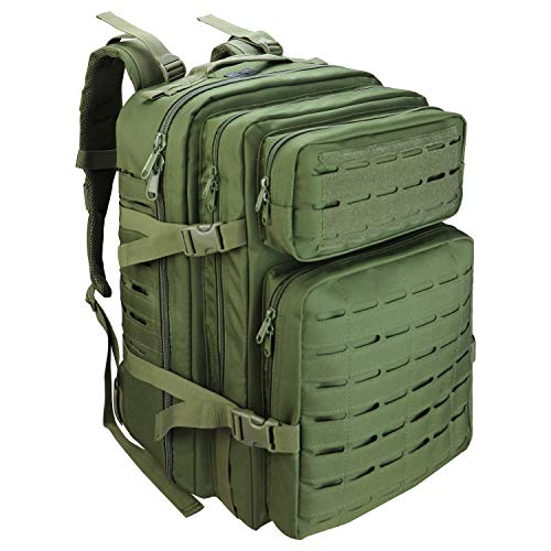 ROORO Military Tactical Backpack Large 50L Bag3 Day Tactical Assault Army Rucksack for Outdoor Sports,Hiking,Trekking,Camping,Hunting,Molle Bug Out Bag