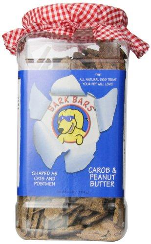 Bark Bars Plastic Canister Carob/Peanut Butter Pet Treat, 2.5-Pound ()
