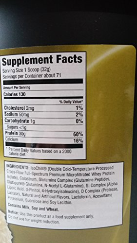 Ultimate Nutrition ISO Sensation 93% Pure Hydrolyzed Whey Protein Isolate Powder Low Carb, Low Calorie, Non GMO, Vanilla Bean, 5 Pounds