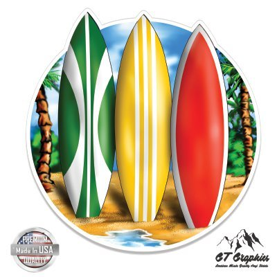 GT Graphics Surfboards Tropical Beach Ocean Surfing - 5