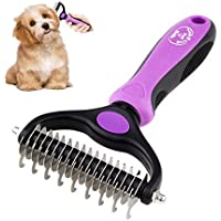 BENCMATE Dematting Comb Tool for Dogs Cats Pet Grooming Undercoat Rake with Dual Side - Gently Removes Undercoat Knots…