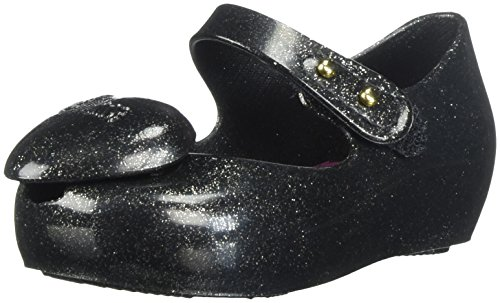 Mini Melissa Girls' Mini Ultragirl Heart Me Ballet Flat, Black, 7 Medium US Toddler - Image 1