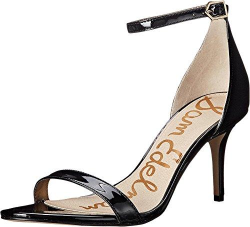 Sam Edelman Women's Patti Dress Sandal, Black Patent, 8 M (Black Patent Womens Dress)