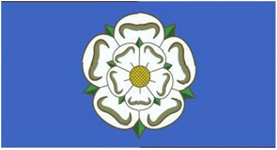 3/' x 2/' YORKSHIRE FLAG English County White Rose England Leeds York