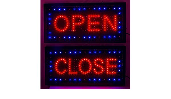 ovovo Bright LED 2 en 1 Open Closed Sign para negocio tienda ...