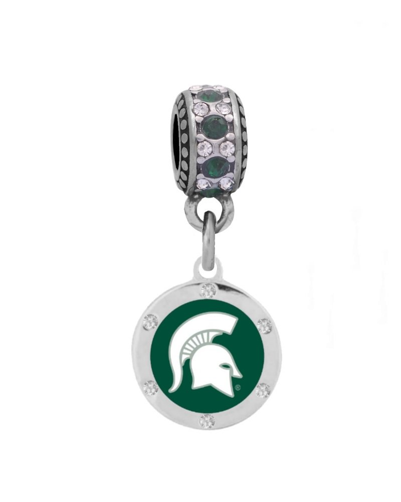 Final Touch Gifts Michigan State Crystal Charm Fits European Style Large Hole Bead Bracelets