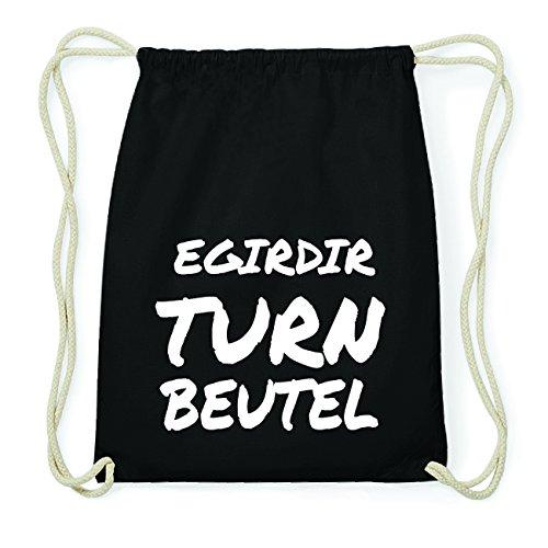 JOllify EGIRDIR Hipster Turnbeutel Tasche Rucksack aus Baumwolle - Farbe: schwarz Design: Turnbeutel M3HQoA
