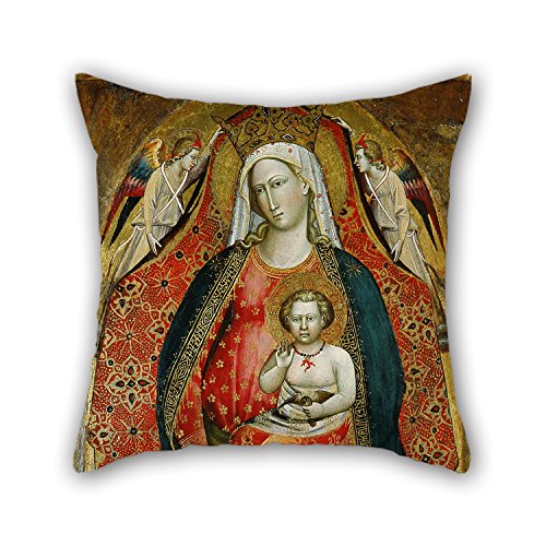 Uloveme The Oil Painting Giovanni Di Marco, Called Giovanni Dal Ponte - Madonna And Child With Angels Throw Pillow Covers Of ,20 X 20 Inches / 50 By 50 Cm Decoration,gift For Teens Girls,teens (Marco Polo Costume)