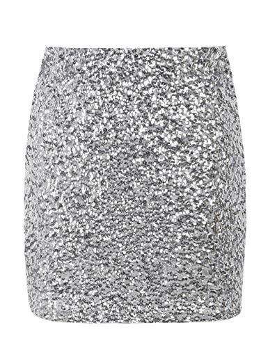 kayamiya Women's Sequin Cocktail Skirt Sparkle Bodycon Mini Club Skirt XXL/US 14-16 ()