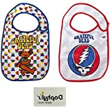 Grateful Dead Extra Soft Baby Bibs 2 Pack by Daphyl's w Daphyls Babies Rock Temporary Tattoo