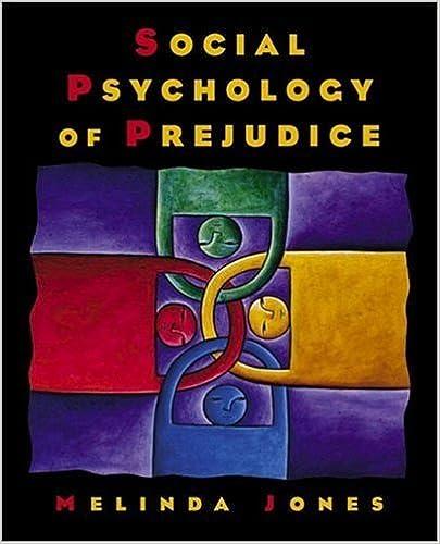 Book Social Psychology of Prejudice by Jones Melinda (2001-11-05)