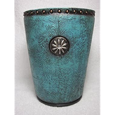 Western Blue Concho Waste Basket