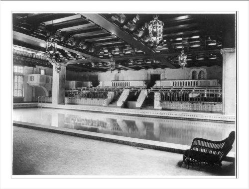 Historic Print (L): Medinah Athletic Club, Chicago, Ill.: Swimming tank no. 1