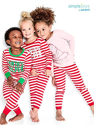 Simple Joys by Carter's 3-Piece Snug-Fit Cotton Christmas Pajama Set Bambina 2