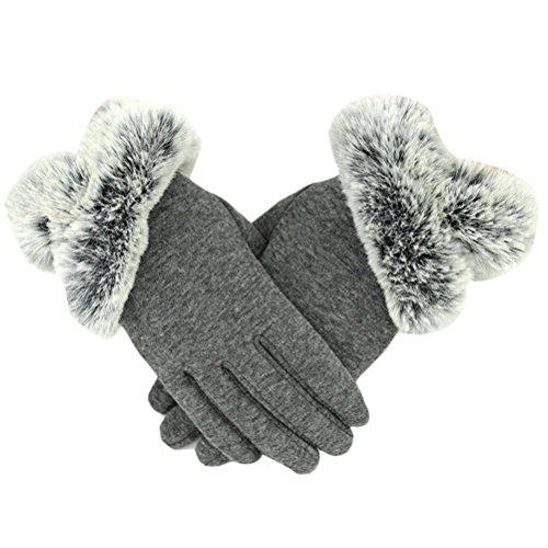 遠洋のリベラル価値Zhhlinyuan 良質 Outdoor Thick Windproof Mittens レディーズ Winter Warmer Touch Screen Glove