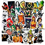 47pcs/Pack Cartoon Fashion Style Cool Tattoo Theme Graffiti Doodle Car Stickers for Moto Car Bike Suitcase Guitar Skateboard Color Name CT023