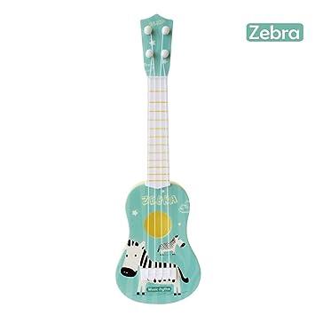 Beatie Juguete de Guitarra Ukelele Musical para Niños, Juguete de Guitarra,Simulador de Dibujos Animados para niños Instrumento Musical Ukulele Juguete: ...