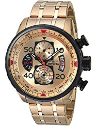 Men's 17205 AVIATOR 18k Gold Ion-Plated Watch